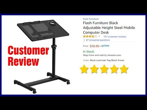 Height Adjustable Mobile Laptop Desk Cart - Best Rolling Stand