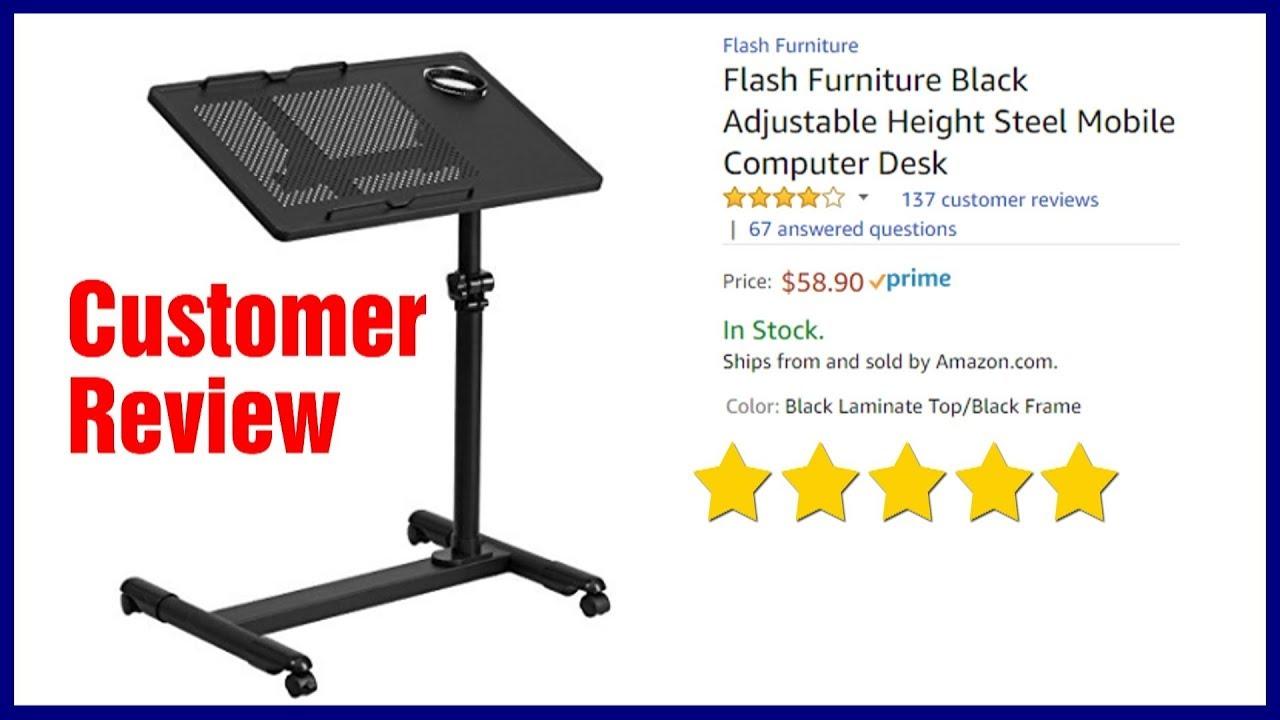 Height Adjustable Mobile Laptop Desk Cart   Best Rolling Stand