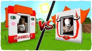Portal de PENNYWISE (IT) vs portal de ANNABELLE en MINECRAFT