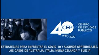 ''Estrategias para enfrentar el Covid-19 y algunos aprendizajes''