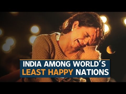 India ranks among the world's least-happy nations