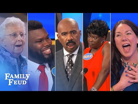Top 10 Moments: The absolute craziest of all crazy from 2017 | Family Feud