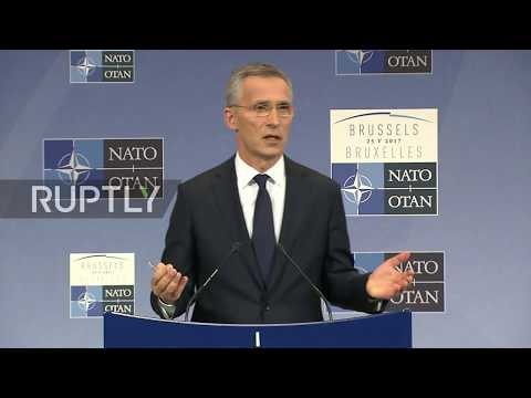 Belgium: Trump 'clear on his commitment' to NATO but 'blunt' on spending demands - Stoltenberg