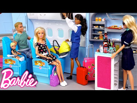 barbie-&-ken-family-travel-routine---baby-first-airplane-ride