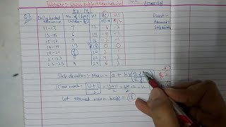 Chapter 14 Exercise 14.1 (Q3 by Step deviation) STATISTICS of Maths class 10