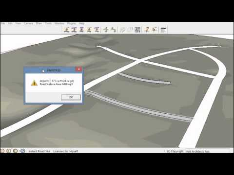 how to make a road in revit