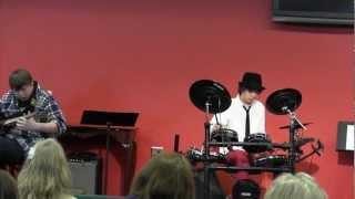 Noah performance Blues River on Drums