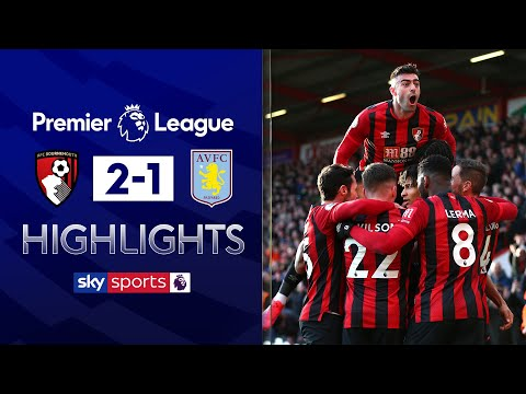 Ten-man Bournemouth hang on for BIG 3 points | Bournemouth 2-1 Aston Villa | EPL Highlights
