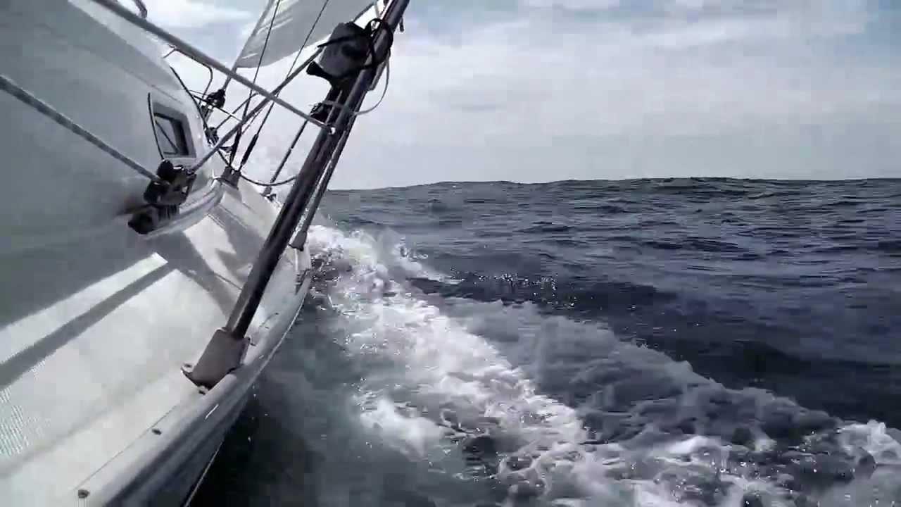 Segelyacht im sturm  Segeln: Über Helgoland nach Norderney - YouTube