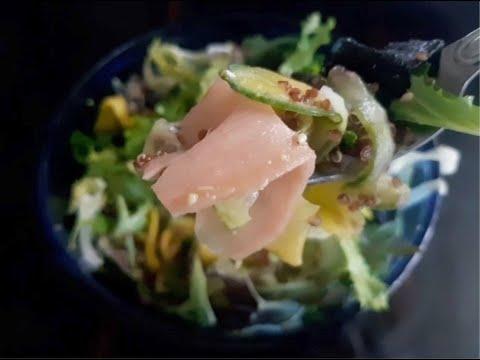 Mango California Roll Salad w Wasabi Ginger Dressing