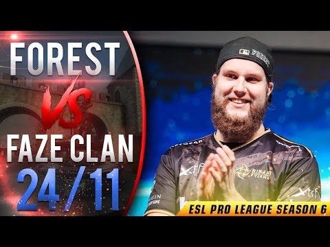 CS:GO POV f0rest vs FaZe | 24/11 (Cbble) @ ESL Pro League S6