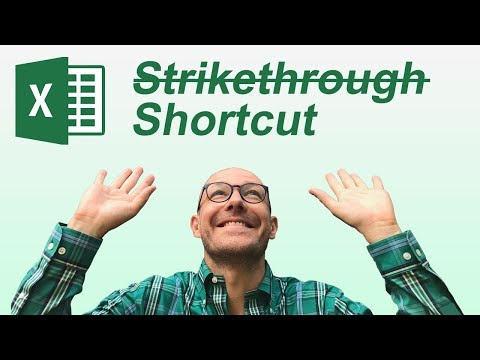Strikethrough Shortcut In Excel (Keyboard Shortcuts)