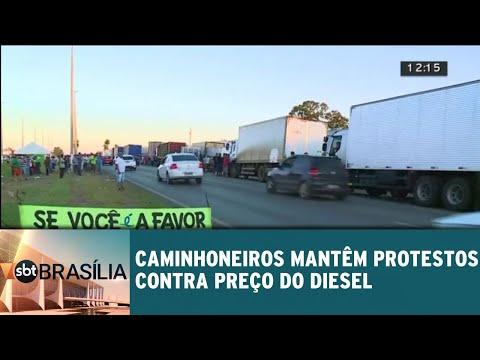 Caminhoneiros mantêm protestos contra preço do diesel | SBT Brasília 23/05/2018