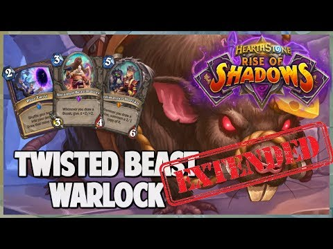 Twisted Beast Warlock | Extended Gameplay | Hearthstone | Rise of Shadows