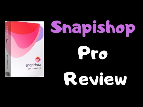 Snapishop Pro Review OTO - Instantly Double Or Even Triple Your Sales With Snapishop Pro #snapishop. http://bit.ly/2Zmx1hu