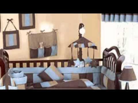 Soho Blue And Brown Boy Crib Baby Bedding Set By JoJo Design