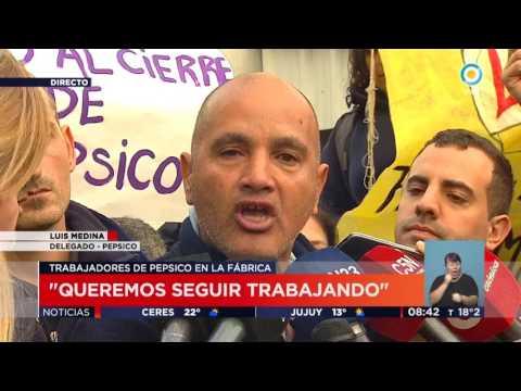 """TV Pública Noticias - Trabajadores de PepsiCo: """"Queremos seguir trabajando"""" (1 de 2)"""