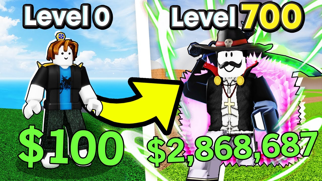 NOOB To PRO With DARK BLADE (Level 1 To Level 700) In Blox Fruits (Roblox)