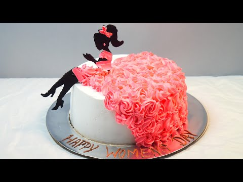 Girl Cake Decoration | Cake Decoration | Rosette | Girl | Chocolate Decoration
