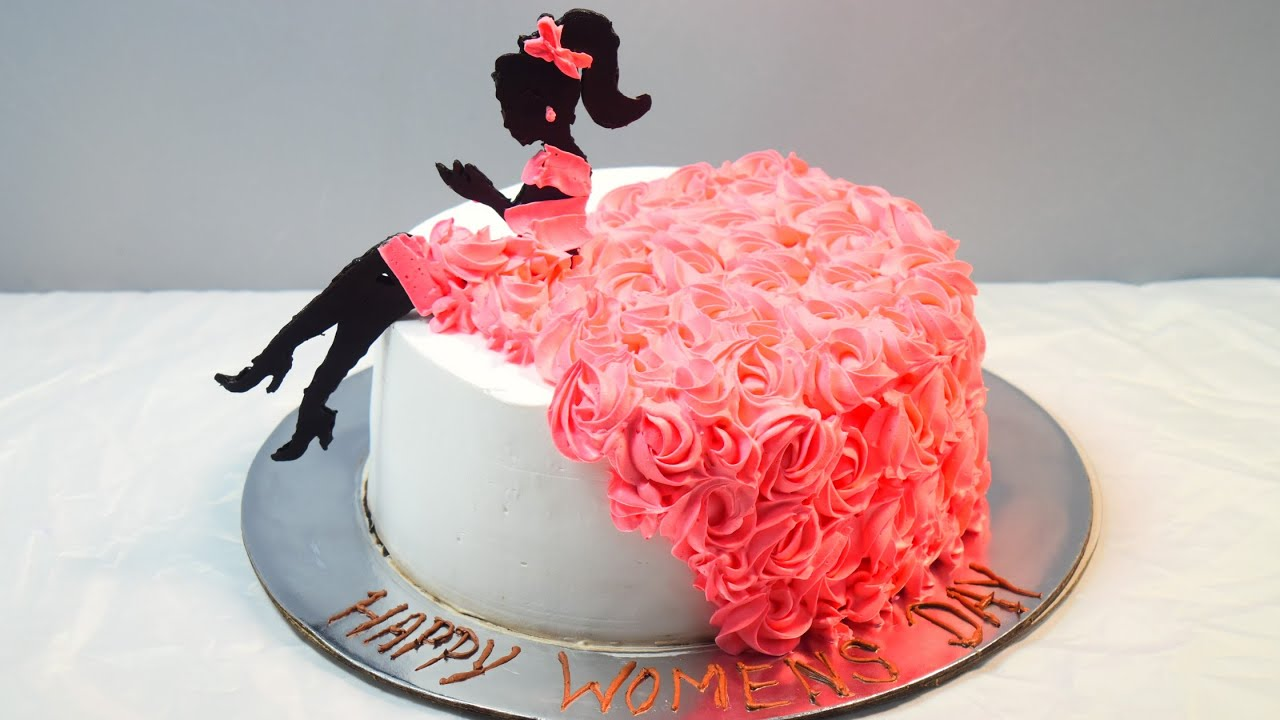 Girl Cake Decoration Cake Decoration Rosette Girl Chocolate Decoration Youtube