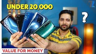Top 6 Best Smartphones🔥 Under Rs 20,000 in India   Value For Money Phones💪