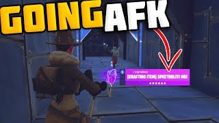 Going AFK Whilst Trading Spectrolite Ore (RARE ITEM) - Fortnite Save The World