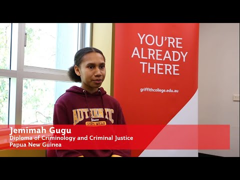 Papua New Guinea student studying Diploma of Criminology talks about why she chose Griffith College