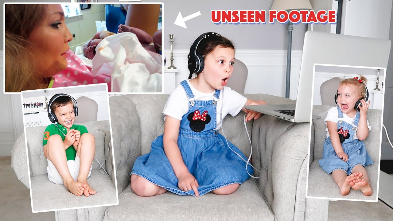 REACTING TO UNSEEN FOOTAGE OF BIRTH!