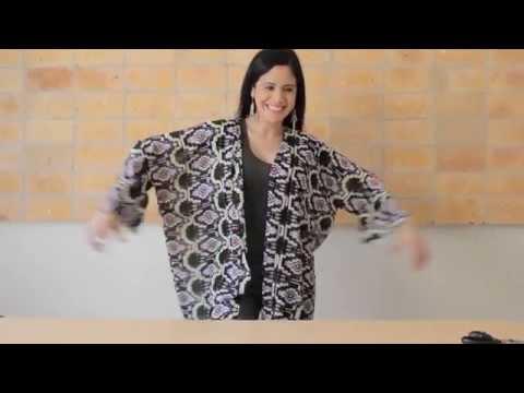 Make your own fashion kimono shawl