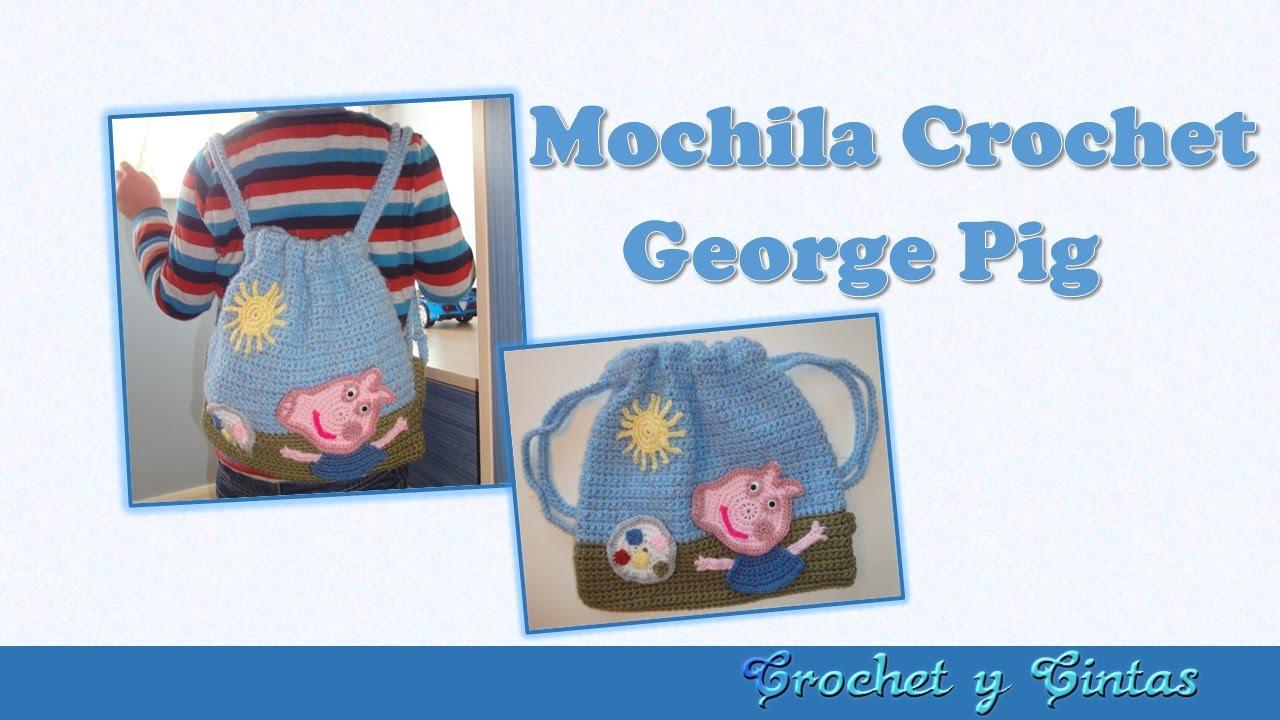 Mochila tejida a crochet George Pig - Parte 1 - YouTube