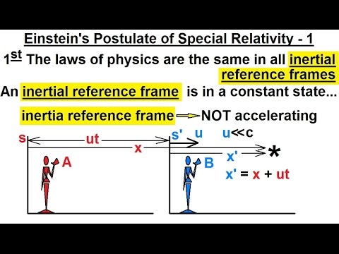 Physics - Special Relativity (13 of 43) Einstein's Postulate of Special Relativity - 1