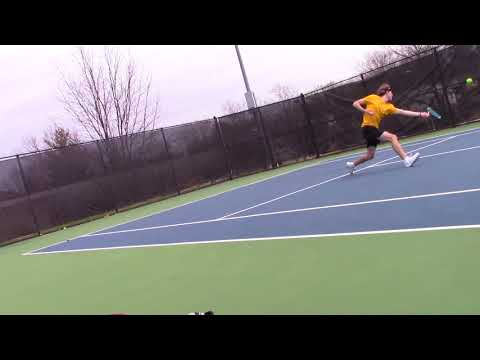 Erik Weiler (Quincy) vs. Rockhurst #3 Singles