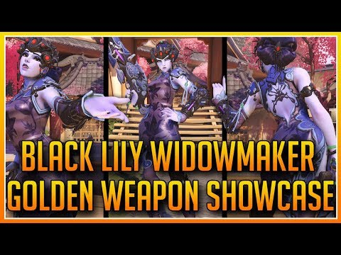 OVERWATCH: THE BLACK LILY WIDOWMAKER GOLDEN WEAPON SHOWCASE!