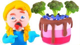 Kids Trying Broccoli Cake ❤ Cartoons For Kids