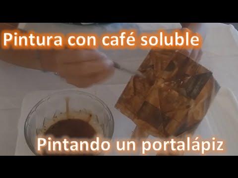 Como pintar con café / Tutorial para preparar pintura con café soluble.