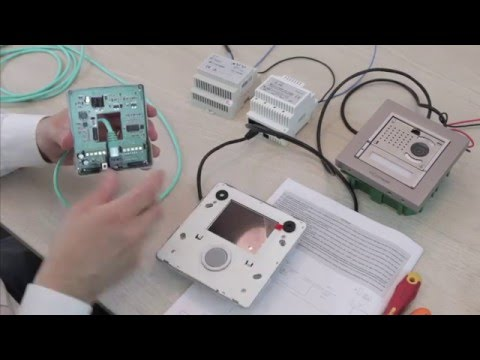 comelit vip kit 8512im and 8513im (english) wiring and programming tutorial Schematic Circuit Diagram