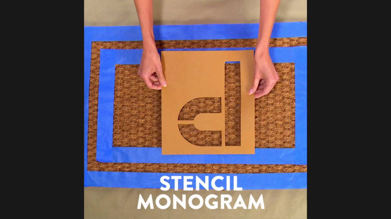 4 Unique Ideas For Diy Welcome Mats Youtube