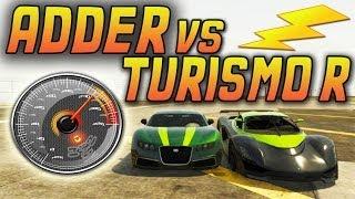 GTA 5 ADDER VS GROTTI TURISMO R, CARRERA, TEST DE VELOCIDAD, COMPARACIONES GTA V 1.11