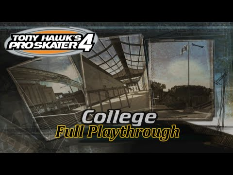 Tony Hawk's Pro Skater 4: College - Full Playthrough (HD PS2 Gameplay)