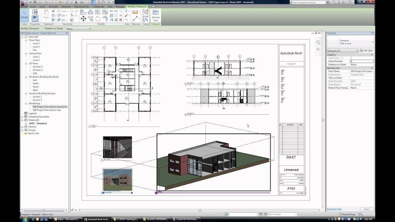 093 tutorial how to layout a sheet and print in revit for Revit architecture modern house design 8