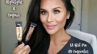 Highlight & Contour w/LA Girl Pro HD Concealer! Also check my updated video!