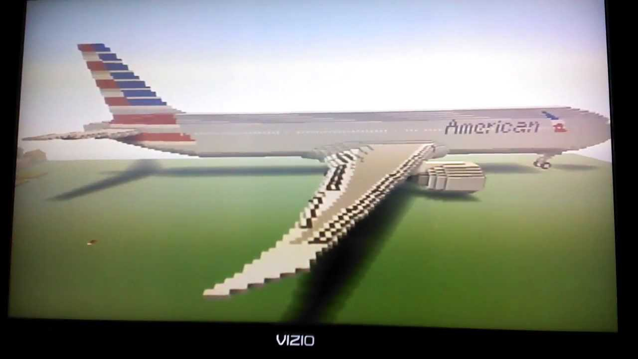 Minecraft Boeing 777 300er American Airlines Youtube