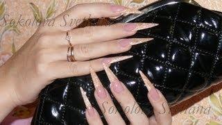 Наращивание ногтей: Стилеты гелем: Соколова Светлана.