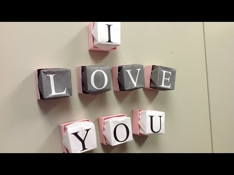 Origami Refrigerator Magnets - Make Your Own Message