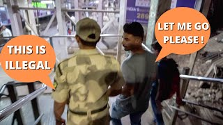 CAUGHT BY POLICE WHILE SHOOTING IN MUMBAI LOCAL TRAIN