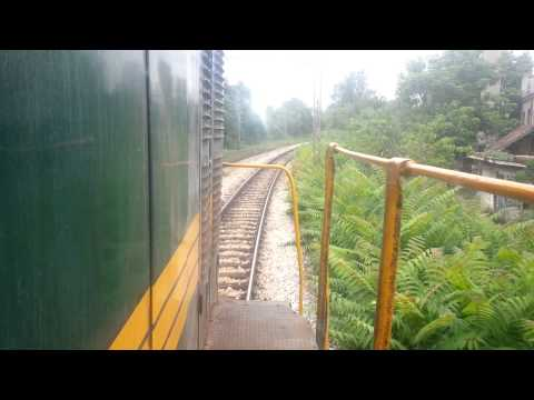 Train Driver's view:661-243 on  railroad in Serbia from  Belgrade to Novi Beograd - SERBIAN RAILWAYS