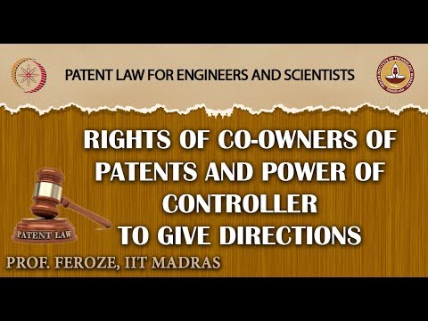 Rights of Co-Owners of Patents and Power of Controller to give directions