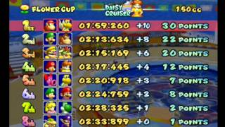Mario Kart Double Dash!! walkthrough part 3: 150cc Flower Cup