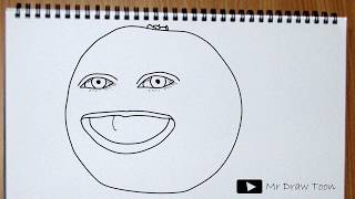 The Annoying Orange Drawing - How to draw Orange