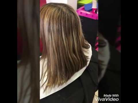 balayage 2 tons avant apr s youtube. Black Bedroom Furniture Sets. Home Design Ideas